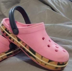 Pink Crocs Bayaband Clog